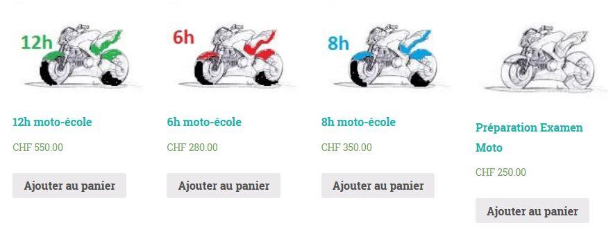 Notre offre de cours moto